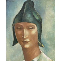 Head of a Young Man in a Pointed Hat