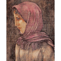 Girl in a Pink Shawl