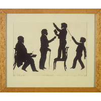 Cut Silhouette of Four Full Figures