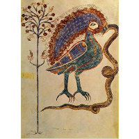 Allegorical conclusion of the Christological cycle. The bird and the snake