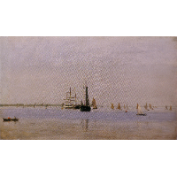 Ships and Sailboats on the Delaware
