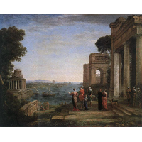 Aeneas and Dido in Carthage