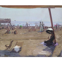 Bathing in the Lido, Venice