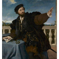 A Nobleman on a Balcony