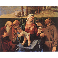 Virgin and Child with Saints Jerome, Peter, Clare and Francis