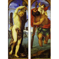 Wings of a triptych: St. Sebastian, St. Christopher