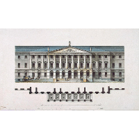 Design for the Smolny Institute in St Petersburg (façade)