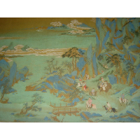 Emperor Minghuang's Journey to Sichuan (detail)