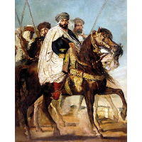 Ali Ben-Hamet, Caliph of Constantine and Chief of the Haractas, Followed by his Escort