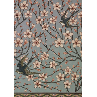 Almond Blossom and Swallow (Wallpaper Design)