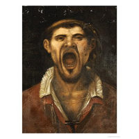 A Peasant Man, Head And Shoulders, Shouting