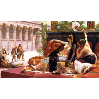 Cleopatra Testing Poisons on Those Condemned to Death