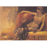 Cleopatra, preparatory study for 'Cleopatra Testing Poisons on the Condemned Prisoners'