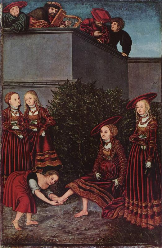 Королева of вирсавия стоя на коленях до king solomon, холст, масло по johann friedrich august tischbein