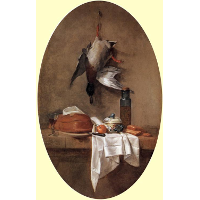 Duck with an Olive Jar