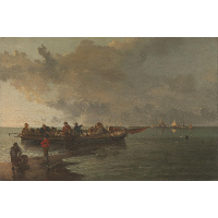 A Barge with a Wounded Soldier