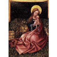 Madonna by a Grassy Bank Oak