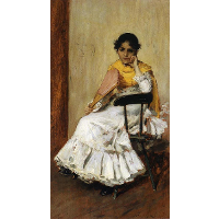 A Spanish Girl (Portrait of Mrs. Chase in Spanish Dress)
