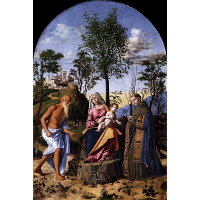 Madonna of the Orange Tree with St. Ludovic of Toulouse and St. Jerome