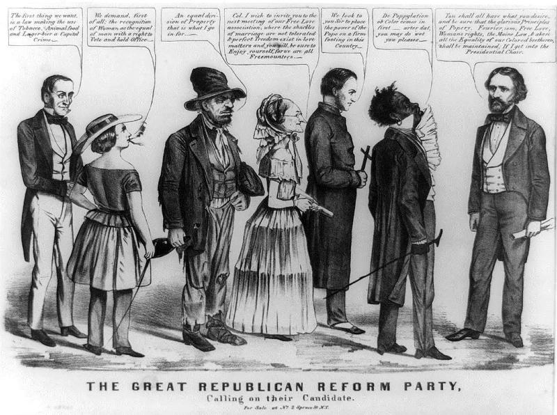 slavery's effect on political party's