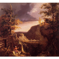 Daniel Boone Sitting at the Door of His Cabin on the Great Osage Lake