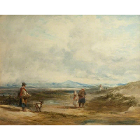 Welsh Peasants Returning from Market; Scene near Barmouth