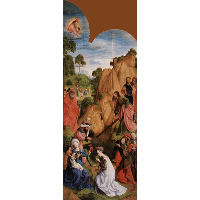 Calvary Triptych (left panel)