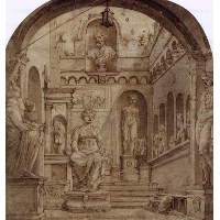 Sculpture Court of the Casa Sassi in Rome