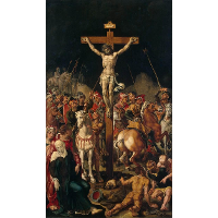 Calvary, central panel of a triptych