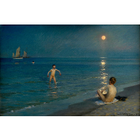 Boys Bathing at Skagen, Summer Evening