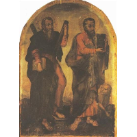 Icon of Apostles Andrew and Mark
