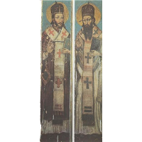 Icon of St. John Chrysostom and St. Basil the Great from the village of Horodyshche in Volhynia (late 17th century).