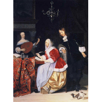 A Young Woman Composing Music