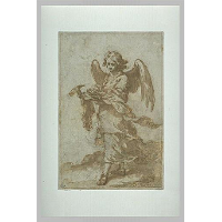 Angel holding a hammer and nails