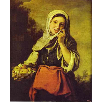A Girl with Fruits