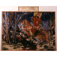 Bahram Gur kills the wolf