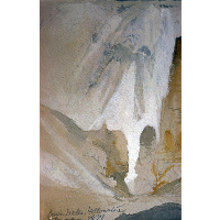 Canyon Walls, Yellowstone (sketch)