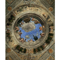 Ceiling of the Camera Picta or Camera degli Sposi