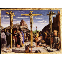 Calvary, central predella panel from the St. Zeno of Verona altarpiece