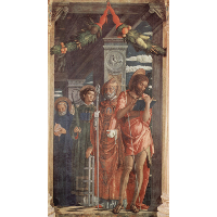 Altarpiece of San Zeno in Verona, right panel of St. Benedict, St. Lawrence, St. Gregory and St. John the Baptist