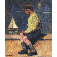 A Boy with Sailboats