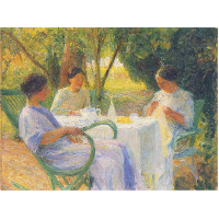 Young Women in Garden in Marquayrol