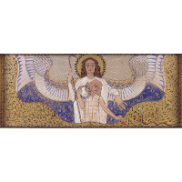 Am Steinhof Church, Design for the right side altar Guardian Angel
