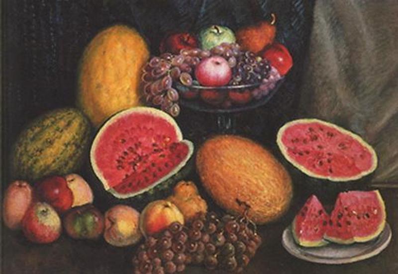 Машков ягоды на фоне красного подноса