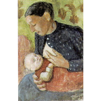 Breastfeeding mother of Paula Modersohn-Becker
