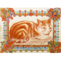 GINGER CAT IN DECORATION