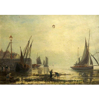 A Seascape with Yachts from a Harbour