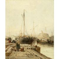 A Quay with Shipping