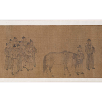 Emperor Minghuang viewing horses