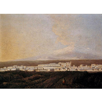 A View of Mount Etna and A Nearby Town
